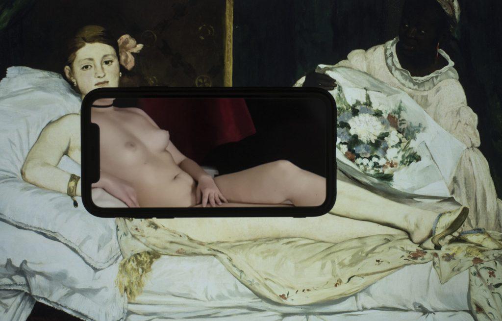 Essequadro  Painting: Édouard Manet, Olympia, 1863,  Parigi, Musée d'Orsay. - History of Art, Essequadro impressiona per la bellezza e la complessità del suo progetto: tecnica, ricerca, coerenza ed emotività.